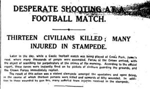 Tipperary Bloody Sunday Jersey Newspaper Report.