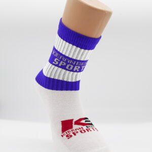 Blue and white half socks