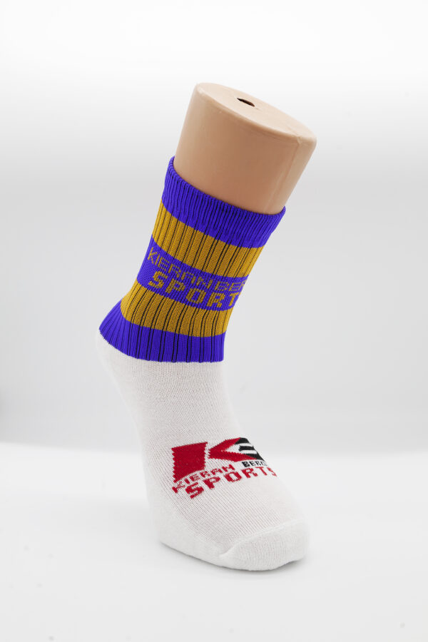 Blue & Gold Kieran Bergin Premium Half Socks